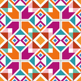 几何无缝的样式 库存照片