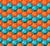 几何无缝的模式 库存图片