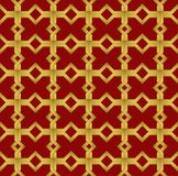 几何无缝的装饰品阿拉伯样式背景 库存图片