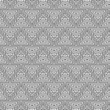 几何无缝的重复的样式 圣诞树,概述线性样式 免版税图库摄影