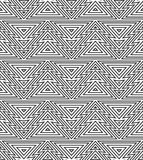 几何无缝的重复的样式 圣诞树,概述线性样式 免版税库存照片
