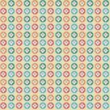 几何样式五颜六色的圈子 免版税库存照片