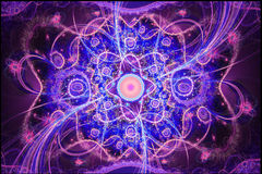 几何样式可能说明作白日梦的想象力荧光的空间梦想和不可思议的宇宙 免版税库存图片