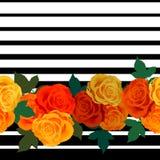 几何样式有玫瑰背景 向量例证