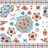 几何样式种族五颜六色的背景 免版税库存照片