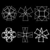 几何样式象占星术十字架 免版税库存照片