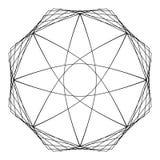 几何样式象星占星术集合五角星形 库存图片