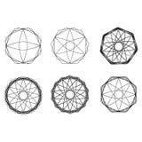 几何样式象星占星术集合五角星形 免版税库存照片