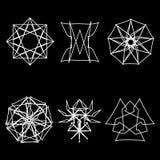 几何样式象星占星术starsAstrology几何样式集合pentogramm 库存照片
