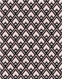几何桃红色和黑V形臂章无缝的传染媒介样式瓦片 向量例证