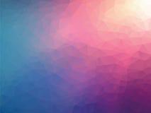 几何桃红色蓝色背景 向量例证
