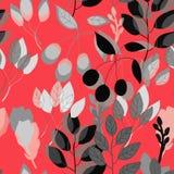 几何植物的在传染媒介的印刷品无缝的样式 皇族释放例证