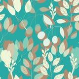 几何植物的在传染媒介的印刷品无缝的样式 向量例证