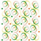 几何模式向量 不同的颜色圆环  免版税库存照片