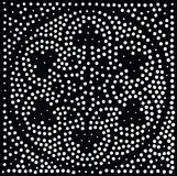 几何模式无缝的向量 重复抽象小点 图库摄影