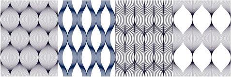 几何模式无缝的集 几何简单的时尚织品印刷品 重复瓦片的传染媒介构造汇集 波浪曲线 皇族释放例证