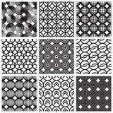 几何模式无缝的集 库存照片