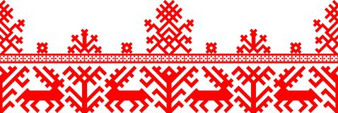 几何模式红色 皇族释放例证