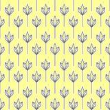 几何模式黄色 免版税库存照片