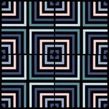 几何正方形传染媒介样式 种族无缝的装饰品 抽象背景-五颜六色的线 向量例证