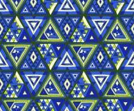 几何民间传说装饰品 部族种族传染媒介纹理 在阿兹台克样式的无缝的条纹图形 皇族释放例证