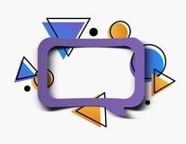 几何泡影,抽象现代3D框架横幅背景 库存例证