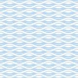 几何波浪无缝的样式背景 库存例证