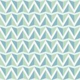 几何浅绿色的蓝色无缝的样式背景 库存照片