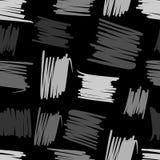 几何混乱线无缝的样式 抽象徒手画的背景 皇族释放例证