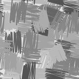 几何混乱线无缝的样式 抽象徒手画的背景 库存例证