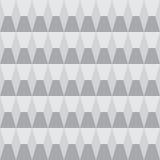 几何灰色极谱无缝的样式 免版税库存图片
