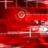 几何焦点摘要红颜色背景 免版税库存照片