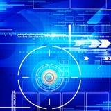 几何焦点摘要蓝色颜色背景 免版税库存图片