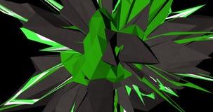 几何爆炸在黑背景中 向量例证