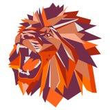 几何狮子头的传染媒介例证 免版税库存照片
