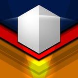 几何现代三颜色 免版税库存图片