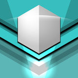 几何现代蓝色 免版税库存照片