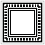 几何的框架 免版税库存图片