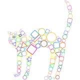 几何的猫 库存照片