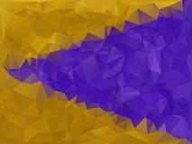 几何的紫色和的金子 库存图片