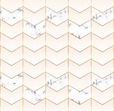 几何盖子设计有金线,粉红彩笔颜色和大理石纹理背景 邀请的,卡片,设计, b模板 向量例证