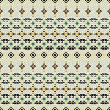 几何种族无缝的样式 免版税库存图片