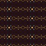 几何种族无缝的样式 库存图片