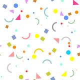 几何纹理 无缝抽象的模式 杂色的背景 免版税图库摄影