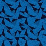 几何线与三角,小点的行家无缝的样式 网状的抽象线性栅格 减速火箭的剪贴薄 向量 免版税库存照片