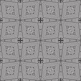 几何线加倍强加了在黑n白色的无缝的背景样式例证 免版税库存照片