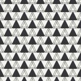 几何线单色抽象与三角的行家无缝的样式 免版税图库摄影
