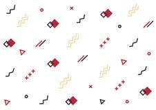 几何线形背景 与几何线的无缝的白色样式 库存图片
