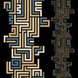 几何线无缝的抽象背景 免版税库存照片