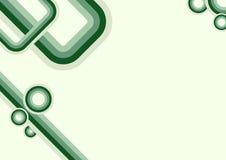 几何绿色时髦 免版税库存照片